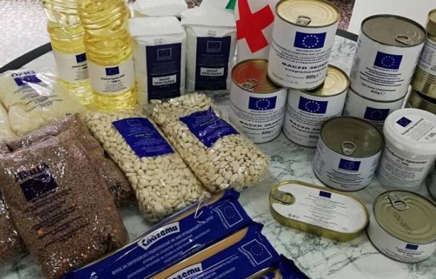 Започна  раздаването на хранителни продукти в София