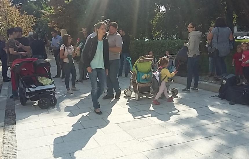 20 на протест за детските градини