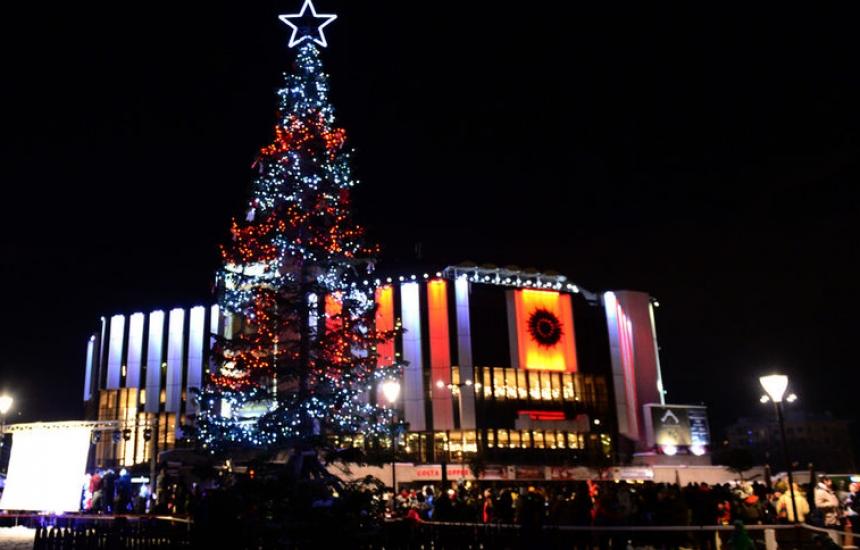 Запалват светлините на елхата в София