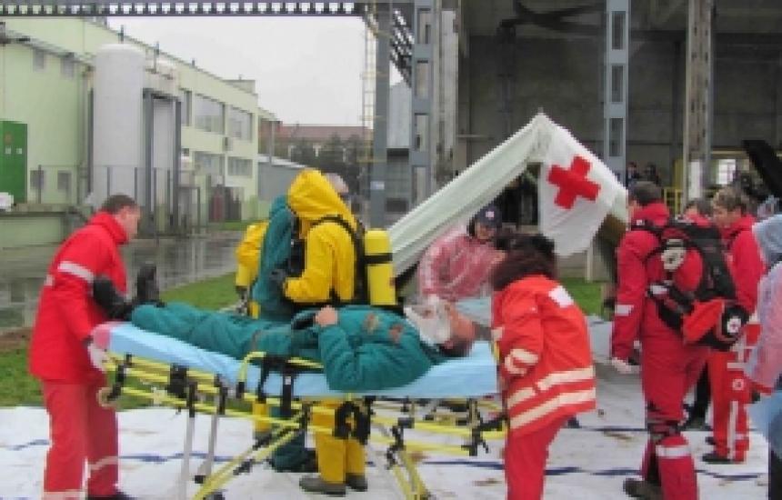 Учение координира екипите за бедствия