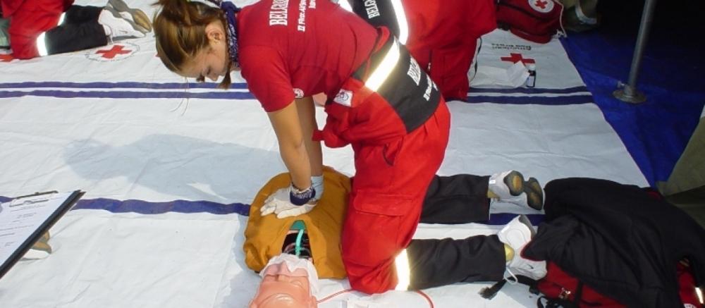 БЧК с демонстрация на спасителна акция