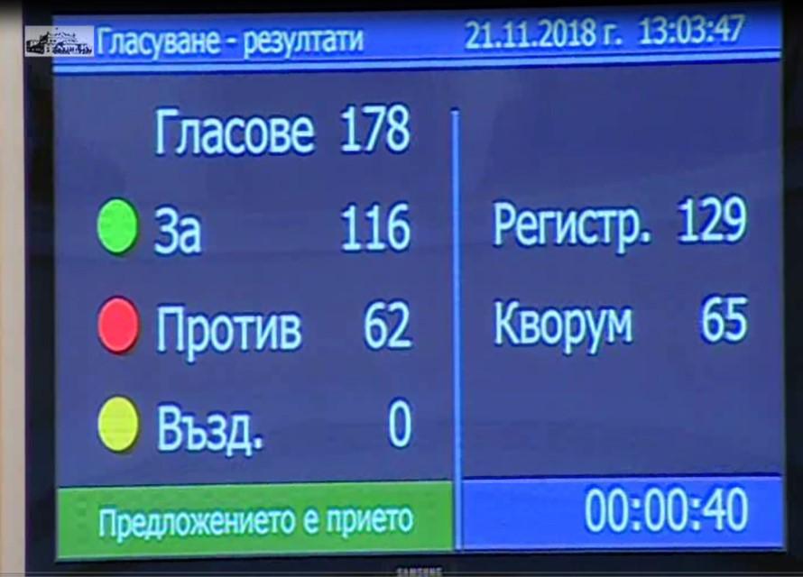Парламентът гласува новото вице
