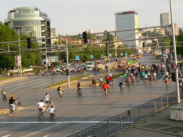 С инцидент започна днешния велопоход